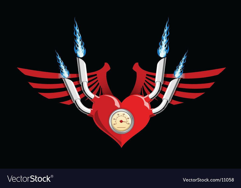 Motor heart vector | Price: 1 Credit (USD $1)
