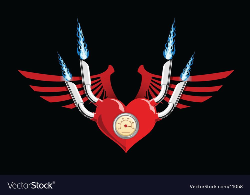Motor heart vector | Price: 1 Credit (USD $1)