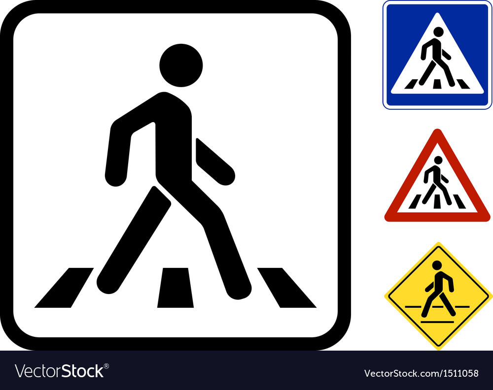 Pedestrian symbol vector | Price: 1 Credit (USD $1)