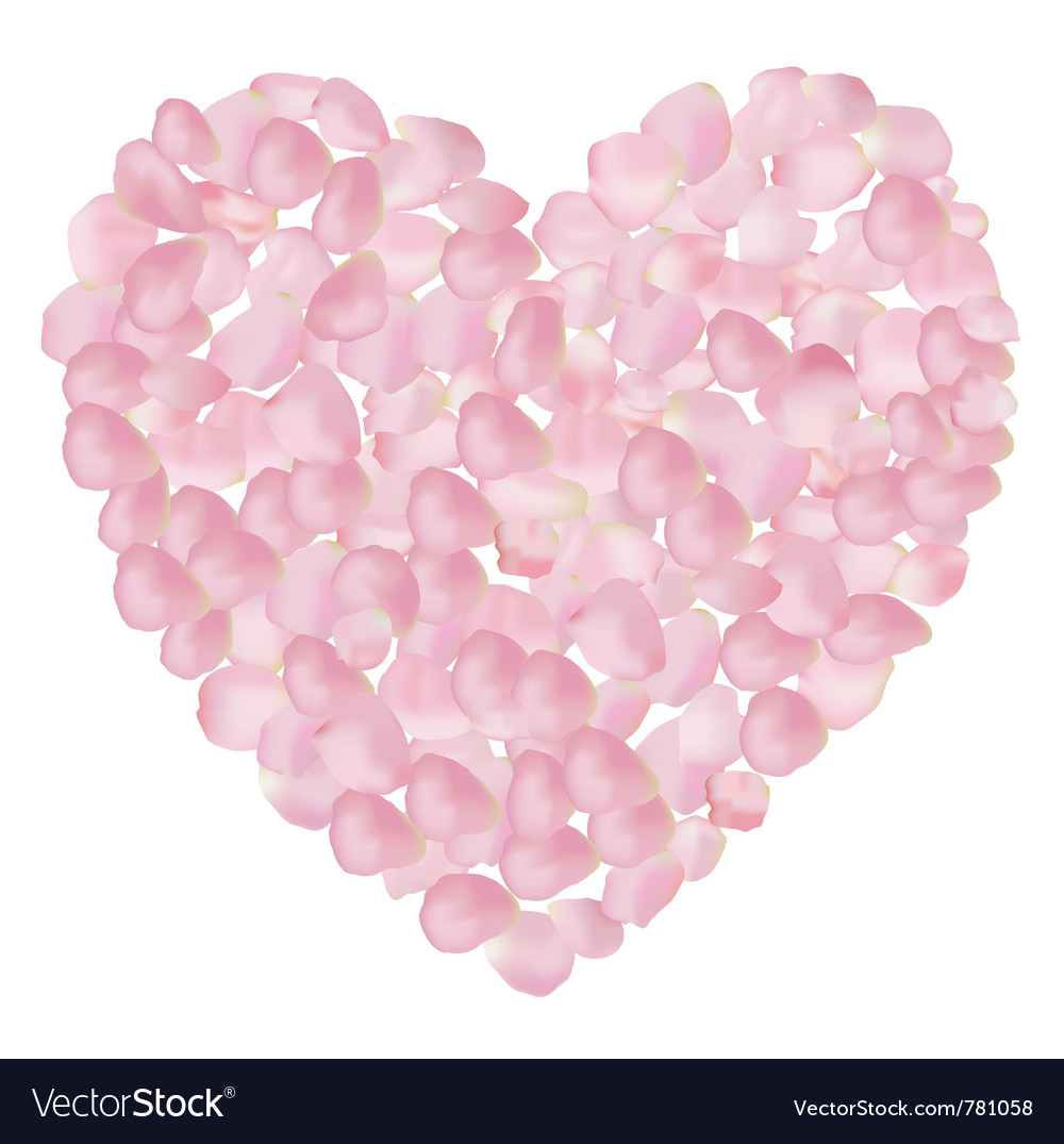 Petal heart vector | Price: 1 Credit (USD $1)