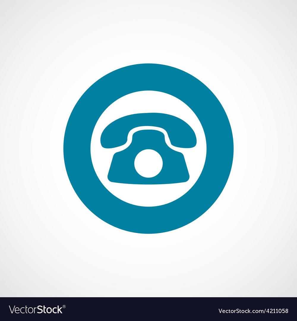 Phone icon bold blue circle border vector