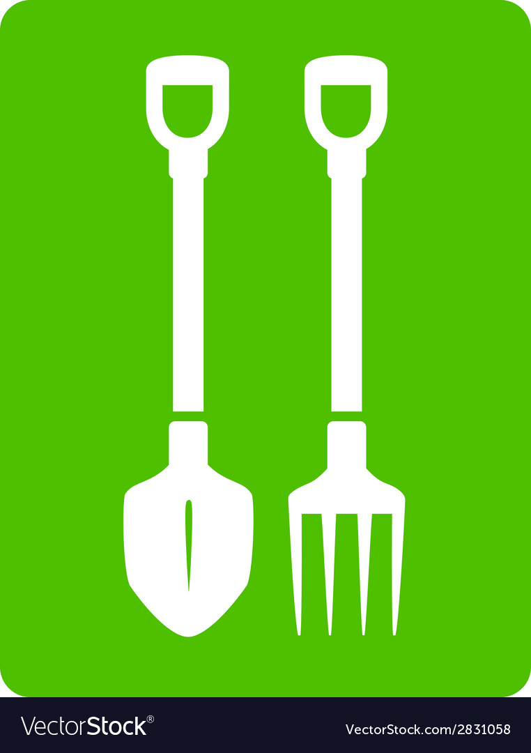 Shovel and pitchfork icon - tools for garden vector | Price: 1 Credit (USD $1)