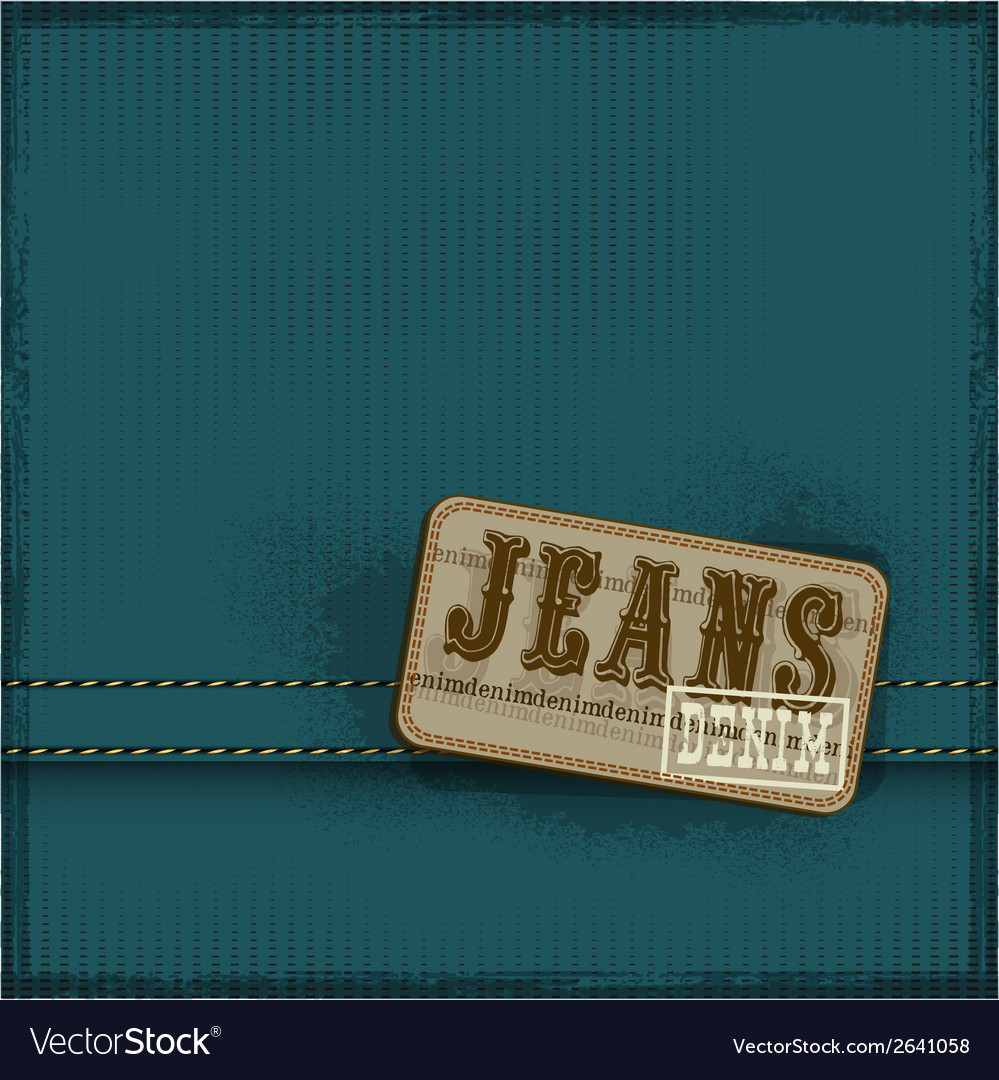 Textile texture jeans background vector | Price: 1 Credit (USD $1)