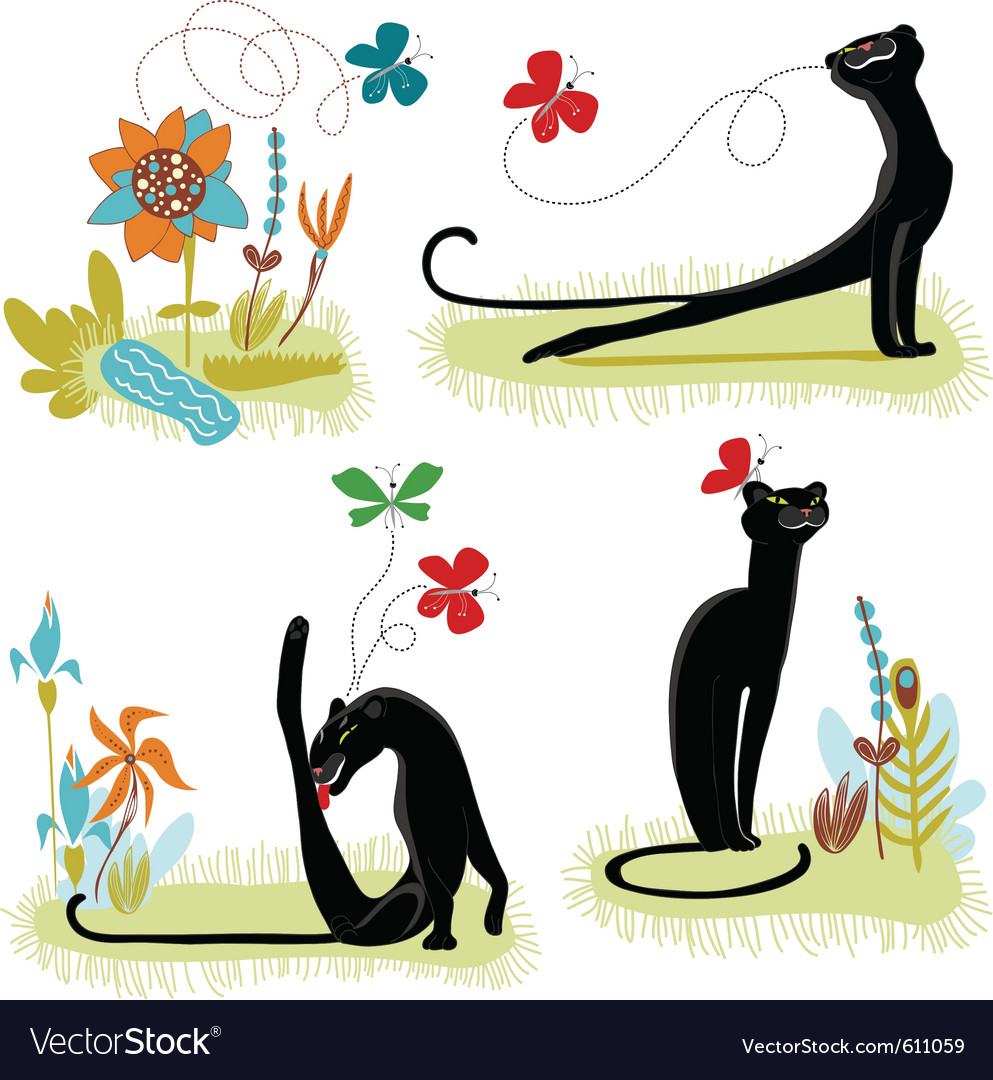 Animated cat vector | Price: 1 Credit (USD $1)
