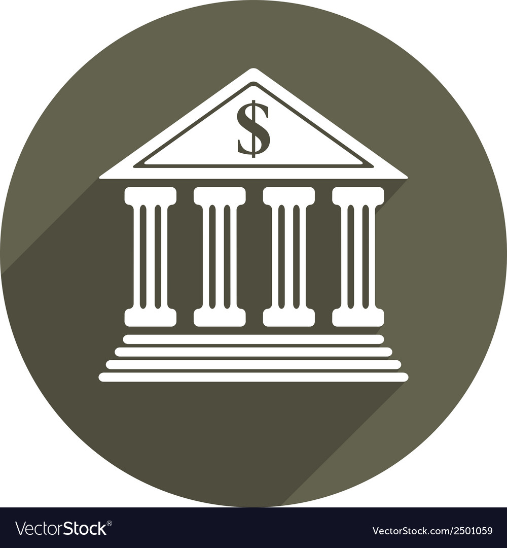 Bank icon isolated vector | Price: 1 Credit (USD $1)