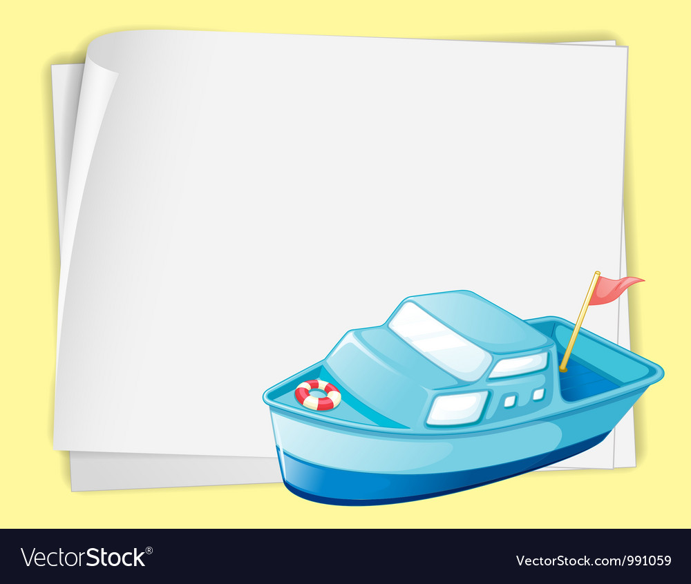 Cartoon paper space boat vector   Price: 1 Credit (USD $1)