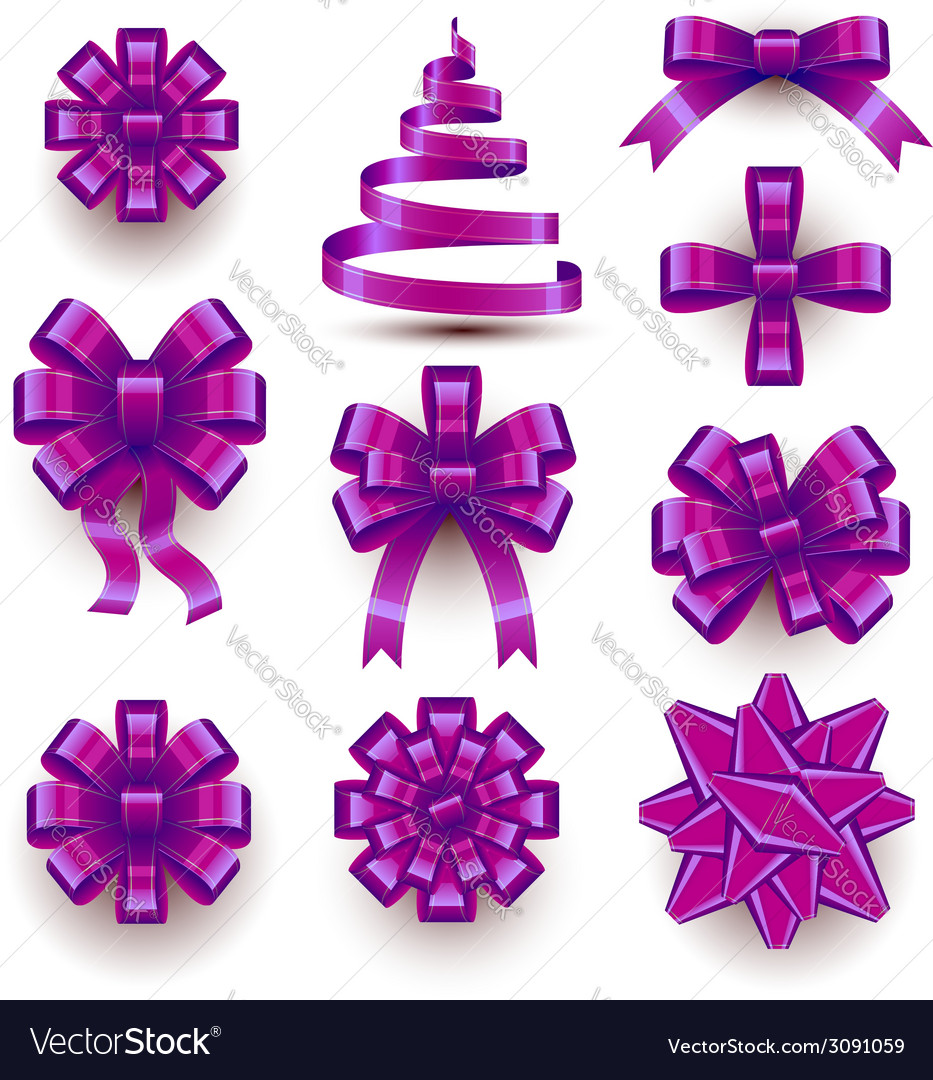 Christmas bows vector | Price: 1 Credit (USD $1)