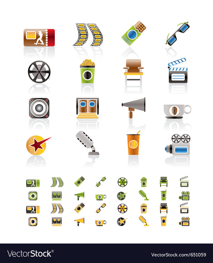 Cinema and movie - icon set vector | Price: 1 Credit (USD $1)