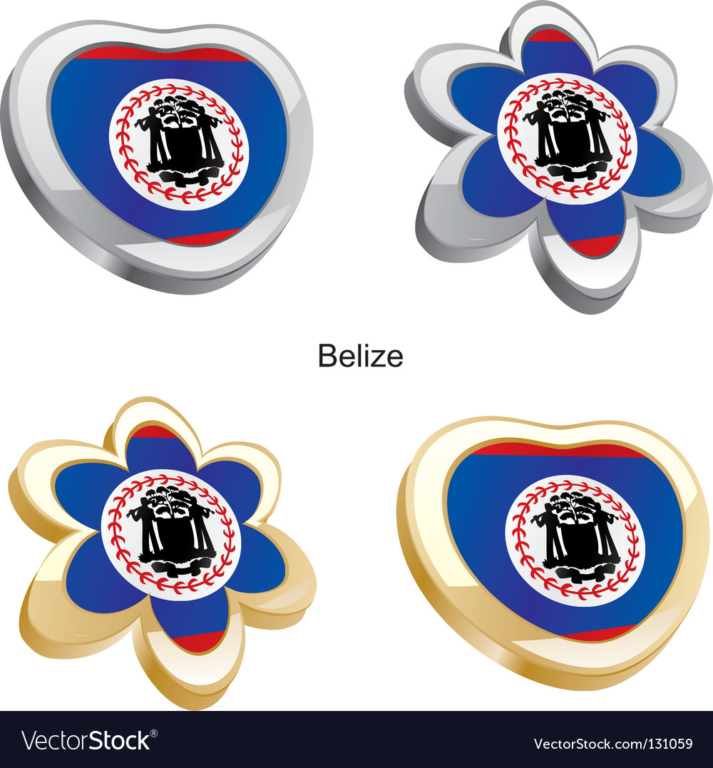 Flag of belize vector | Price: 1 Credit (USD $1)