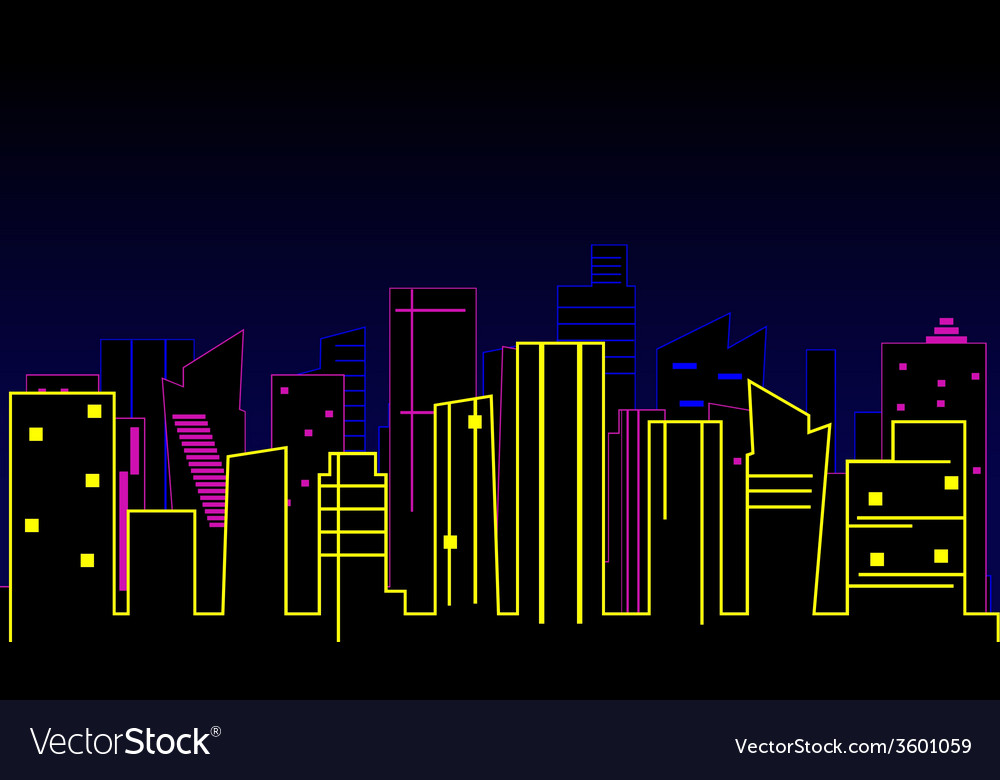 Modern city background vector | Price: 1 Credit (USD $1)