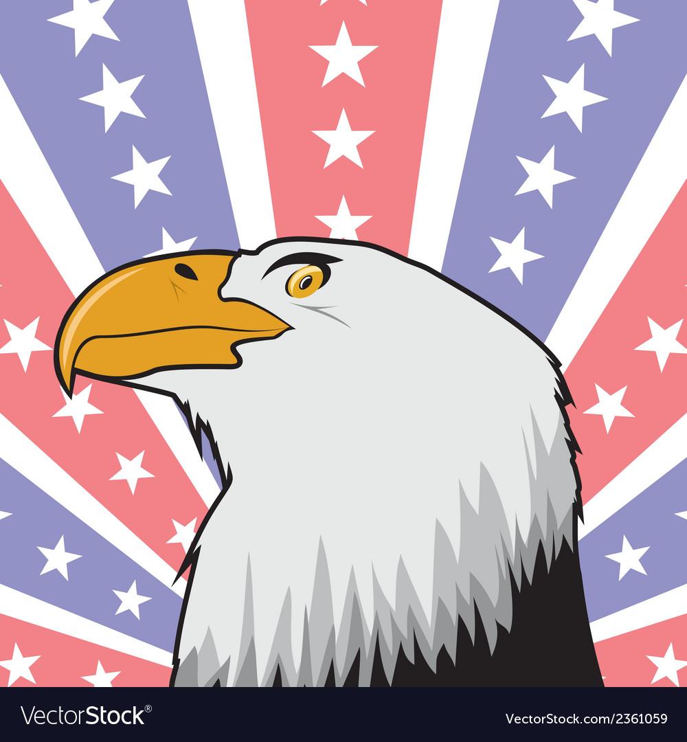 Orao us zastava vector | Price: 1 Credit (USD $1)