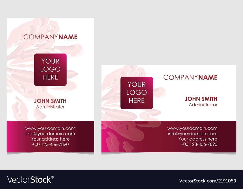 Plum business card vector | Price: 1 Credit (USD $1)