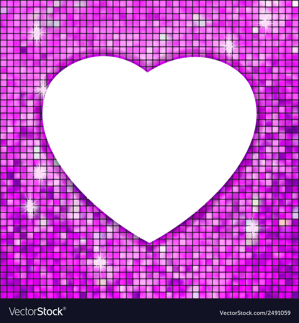 Purple frame in the shape of heart eps 8 vector | Price: 1 Credit (USD $1)