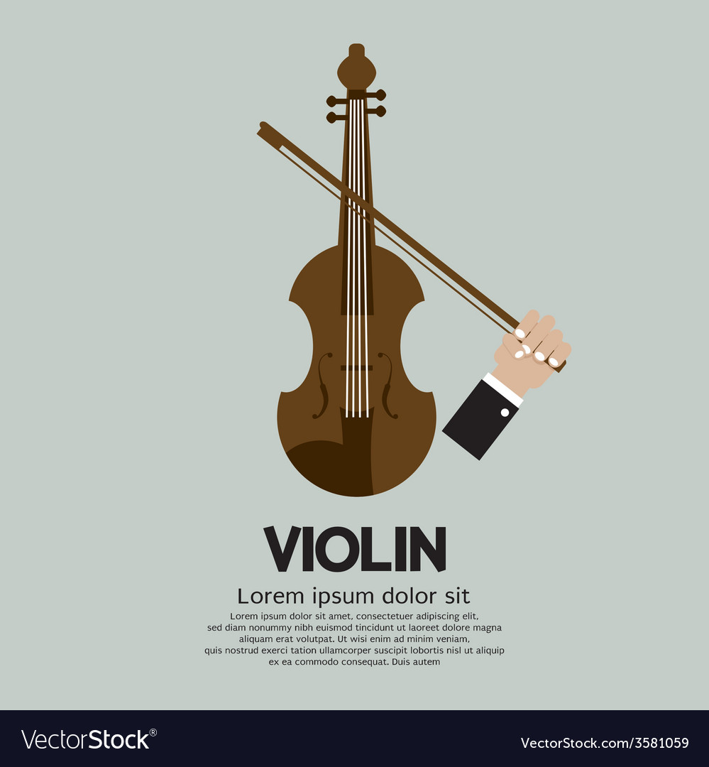 Violin stringed musical instrument vector | Price: 1 Credit (USD $1)