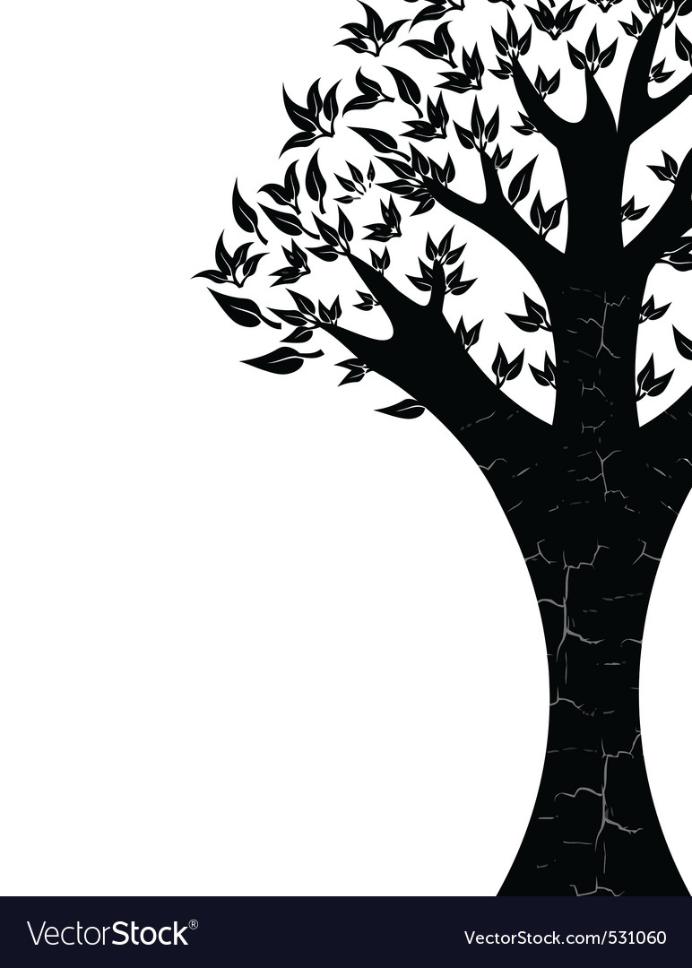 Abstract tree on white background vector | Price: 1 Credit (USD $1)