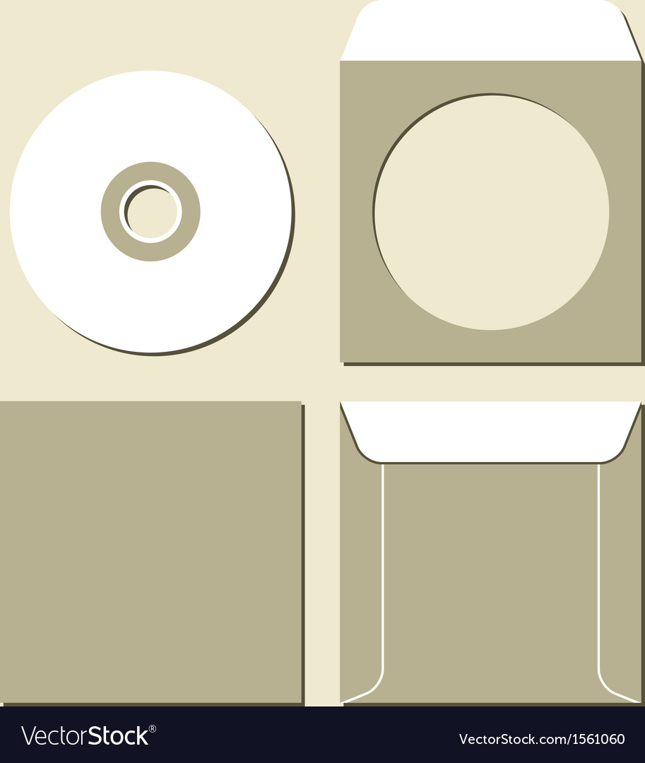 Blank white compact disc vector | Price: 1 Credit (USD $1)