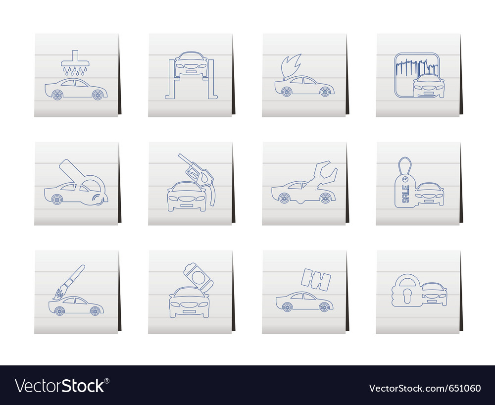 Car and automobile service icon vector | Price: 1 Credit (USD $1)