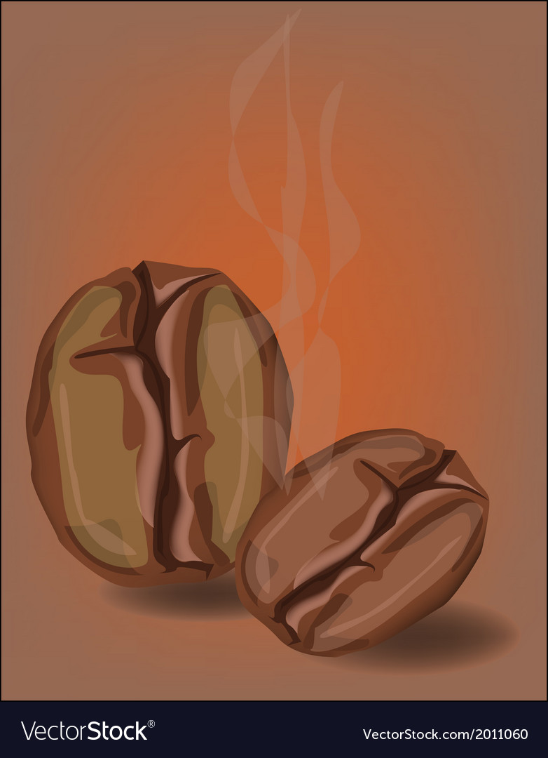 Coffee beans with smoke vector | Price: 1 Credit (USD $1)