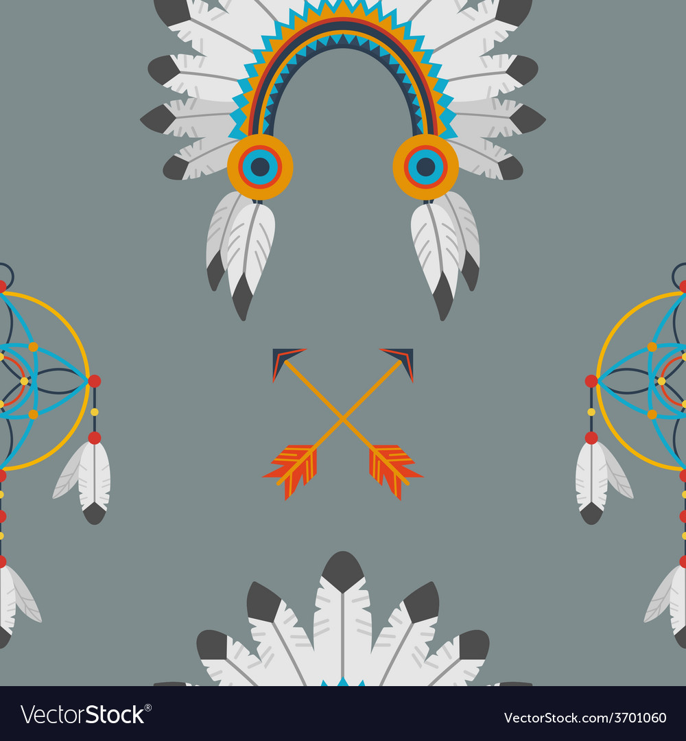 Indian flat pattern vector | Price: 1 Credit (USD $1)