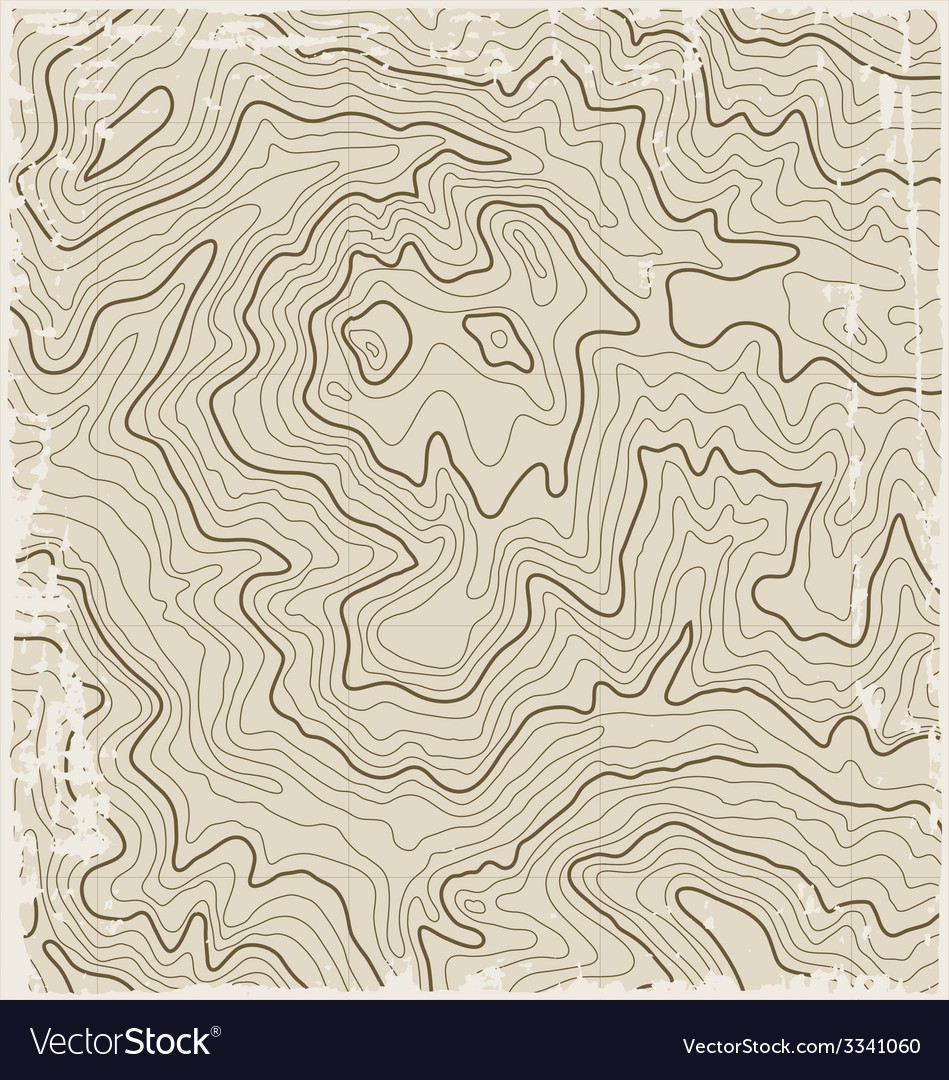 Old topographic map vector | Price: 1 Credit (USD $1)