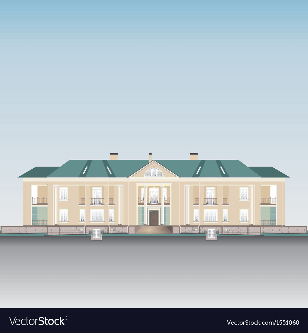 Residential building vector | Price: 1 Credit (USD $1)