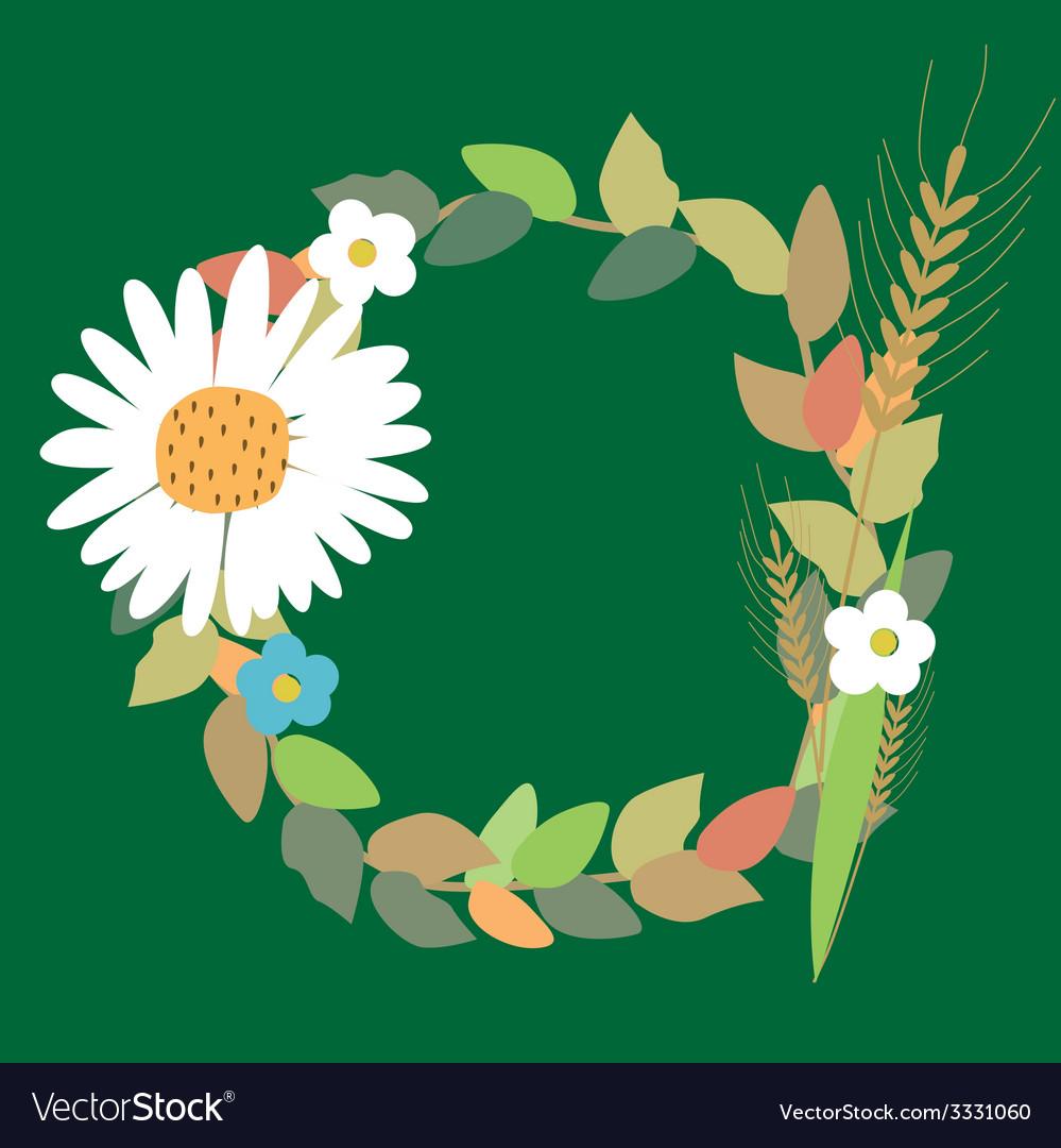 Rural summer wreath vector | Price: 1 Credit (USD $1)