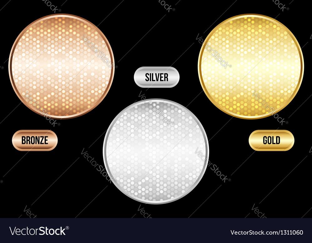 Set of luxury metallic backgrounds vector