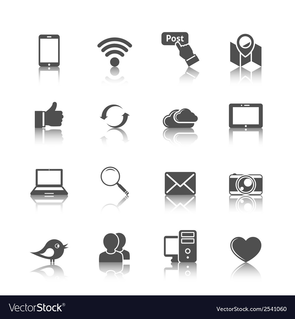 Social networking icons vector | Price: 1 Credit (USD $1)