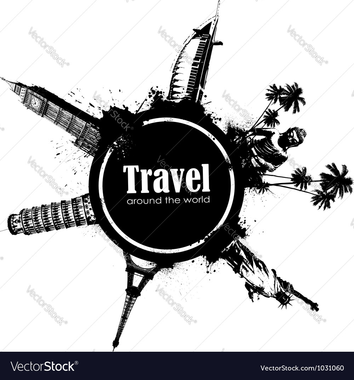 Travel design element vector | Price: 1 Credit (USD $1)