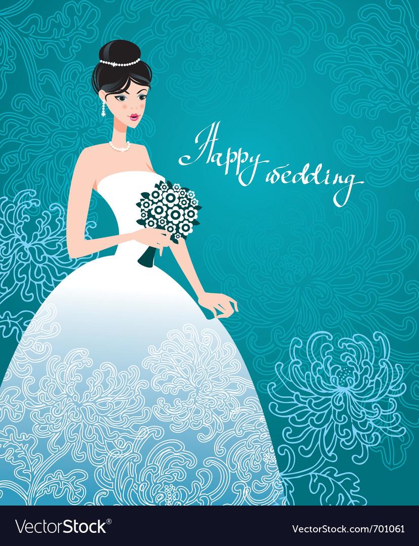 Beautiful bride vector | Price: 3 Credit (USD $3)