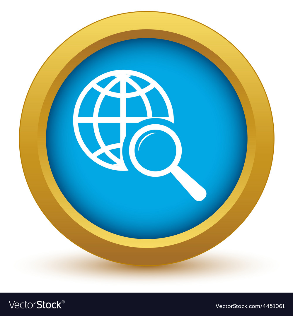 Gold world scan icon vector | Price: 1 Credit (USD $1)
