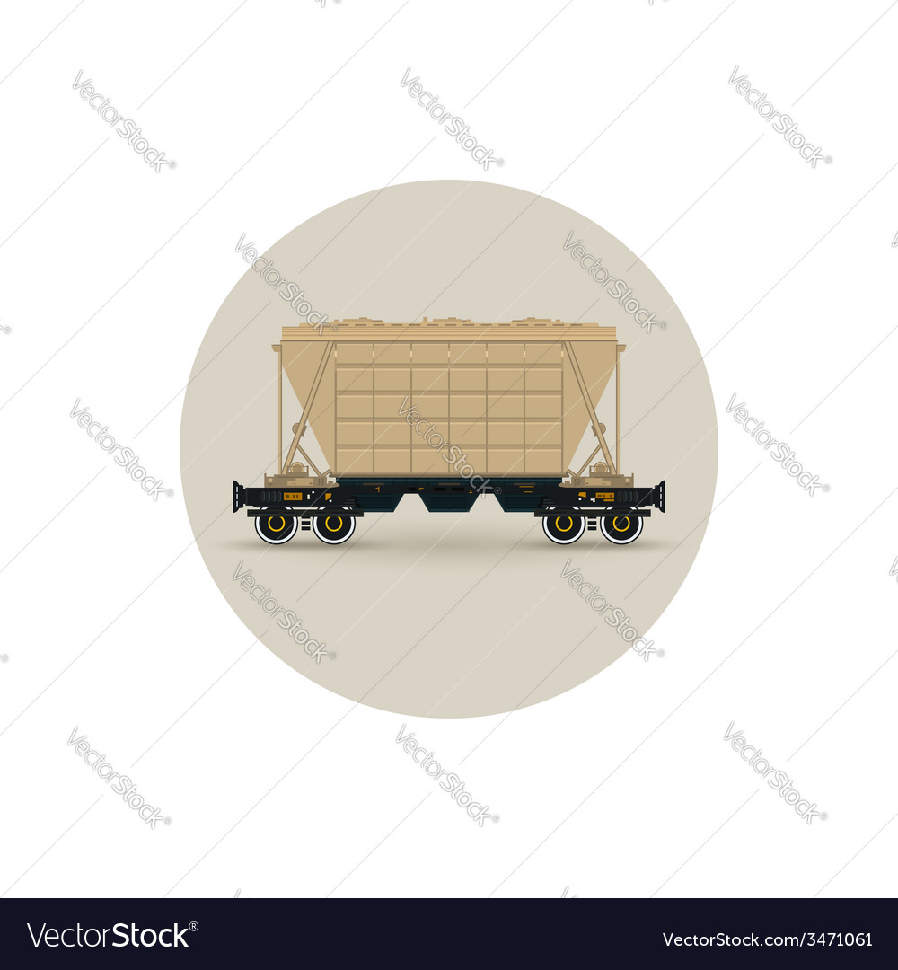 Icon hopper car for transportation freights vector | Price: 1 Credit (USD $1)
