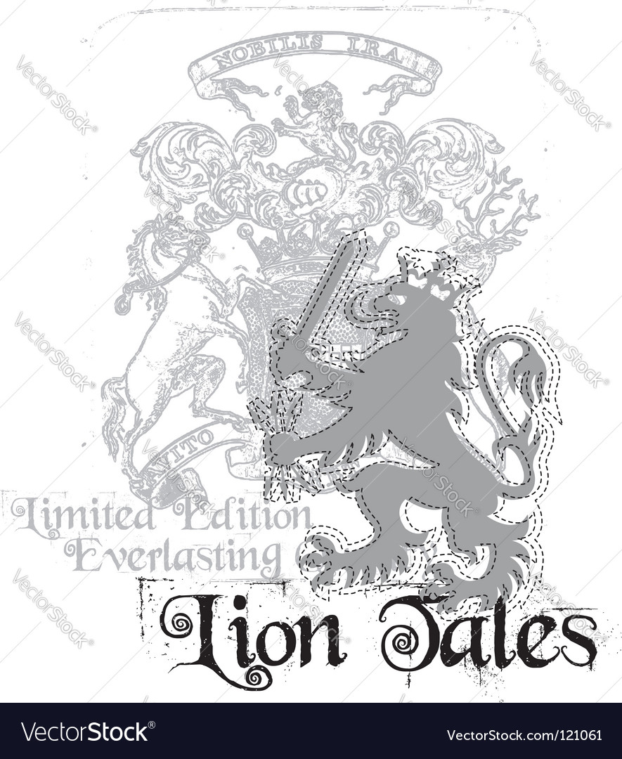Lion tales vector | Price: 1 Credit (USD $1)