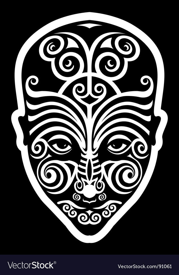 Maori face tattoo vector | Price: 1 Credit (USD $1)