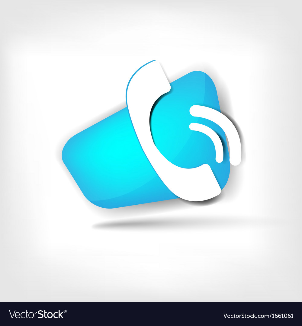 Phone web icon vector | Price: 1 Credit (USD $1)