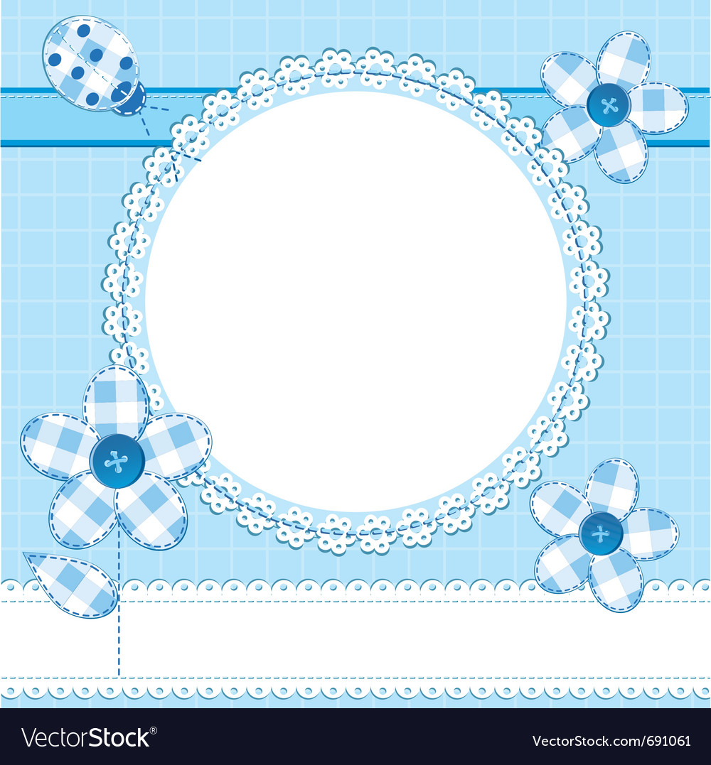 Photo frame or greeting card in a scrapbook style vector | Price: 1 Credit (USD $1)
