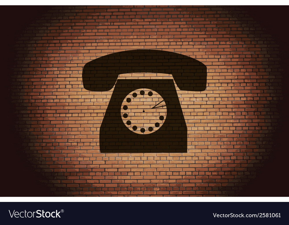 Retro telephone flat modern web button and space vector   Price: 1 Credit (USD $1)