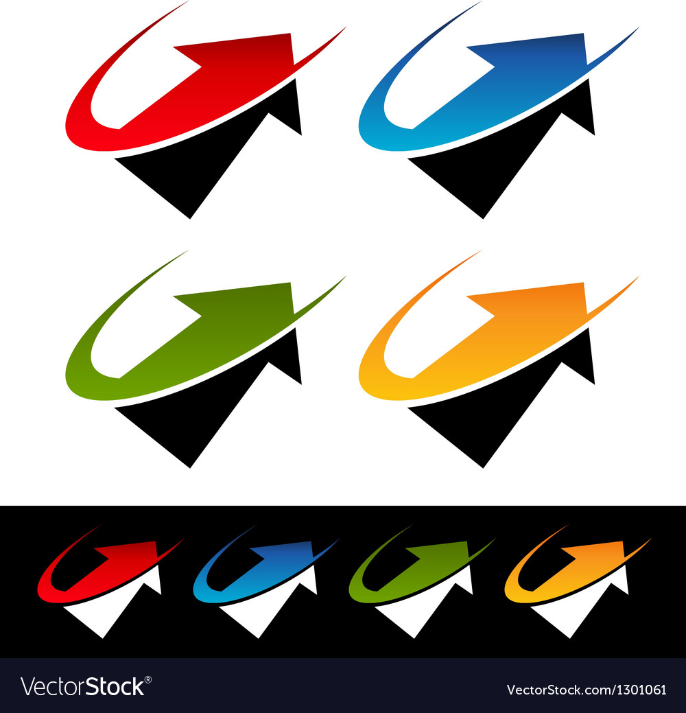 Swoosh arrow icons vector | Price: 1 Credit (USD $1)