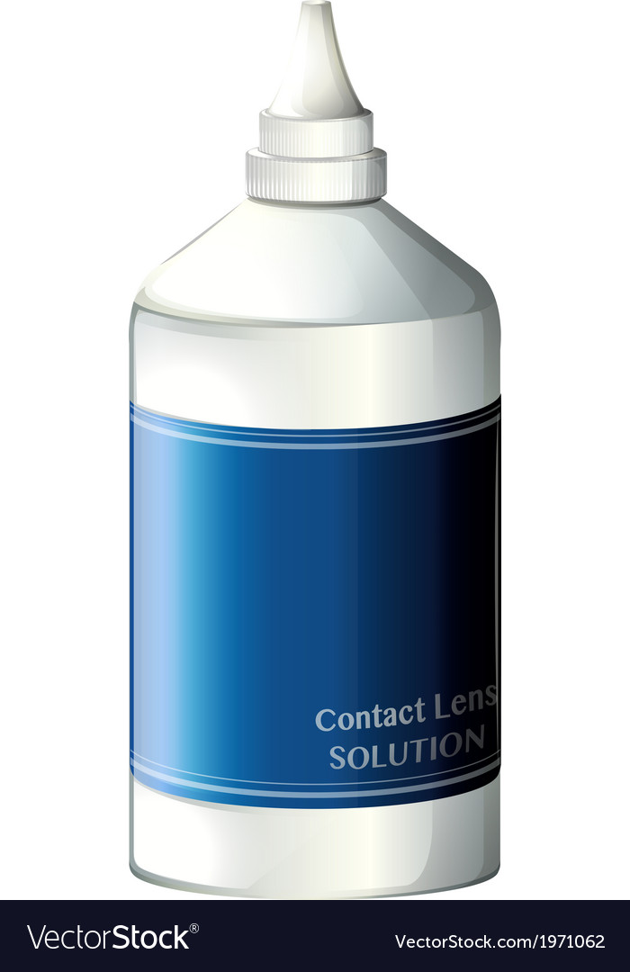 A contact lens solution vector | Price: 1 Credit (USD $1)