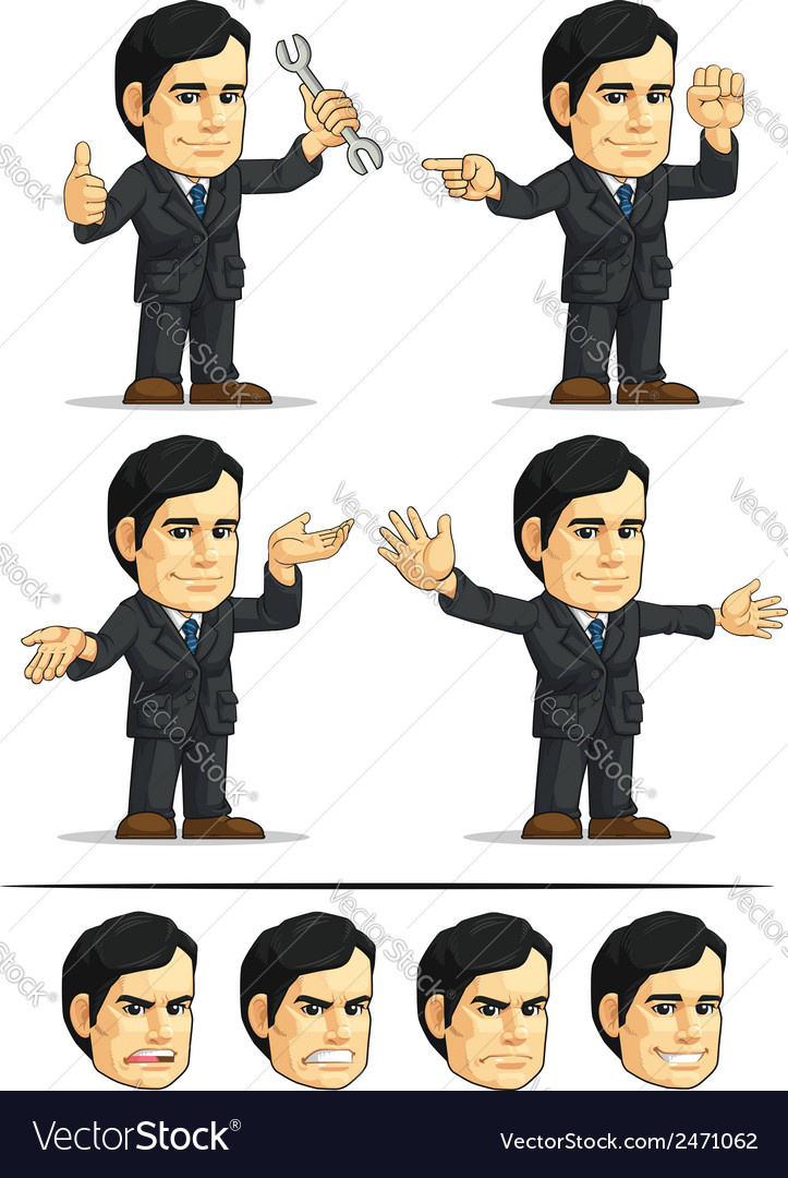 Businessman or company executive customizable 10 vector | Price: 1 Credit (USD $1)