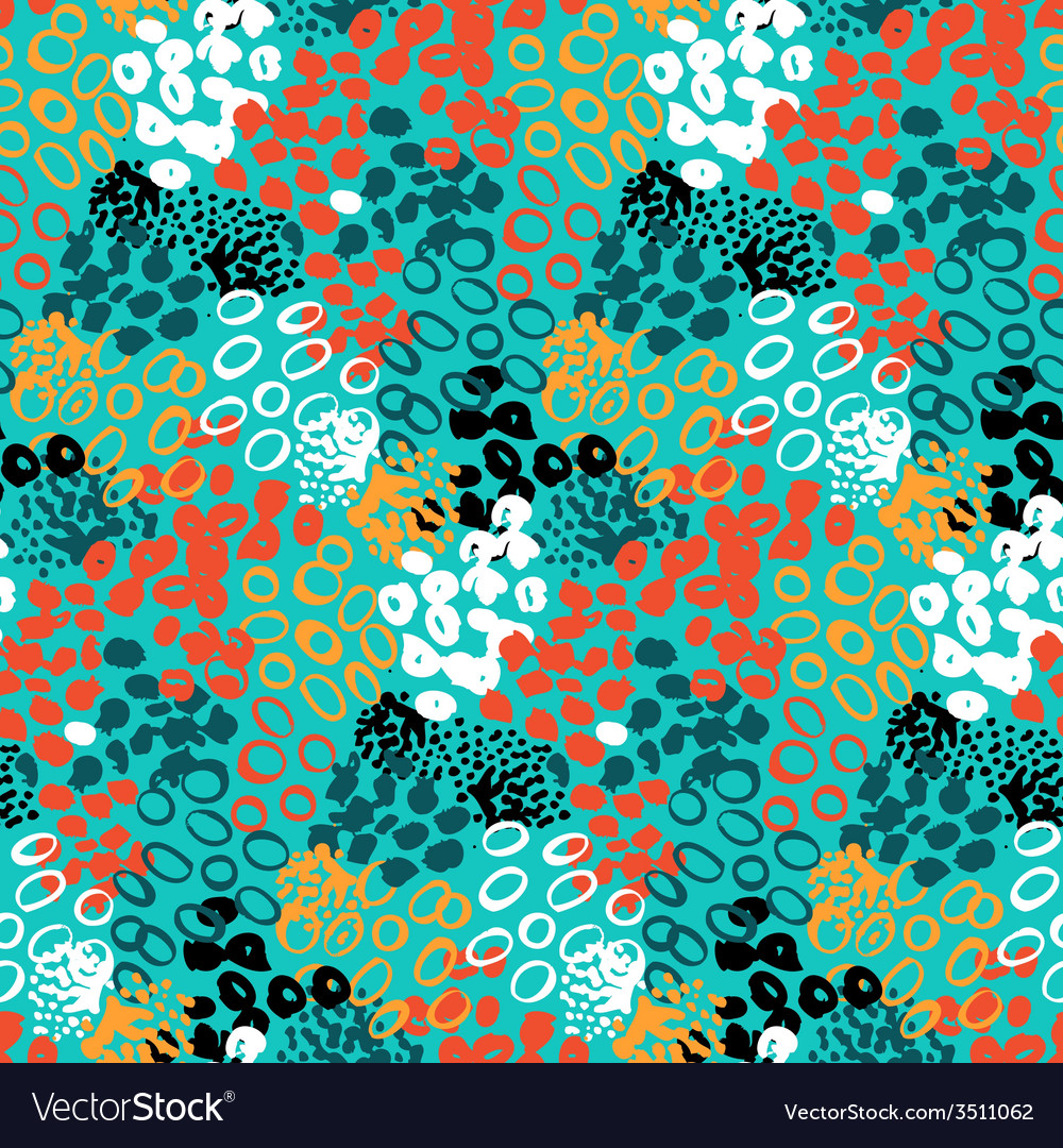 Hand painted pattern with splatters vector | Price: 1 Credit (USD $1)