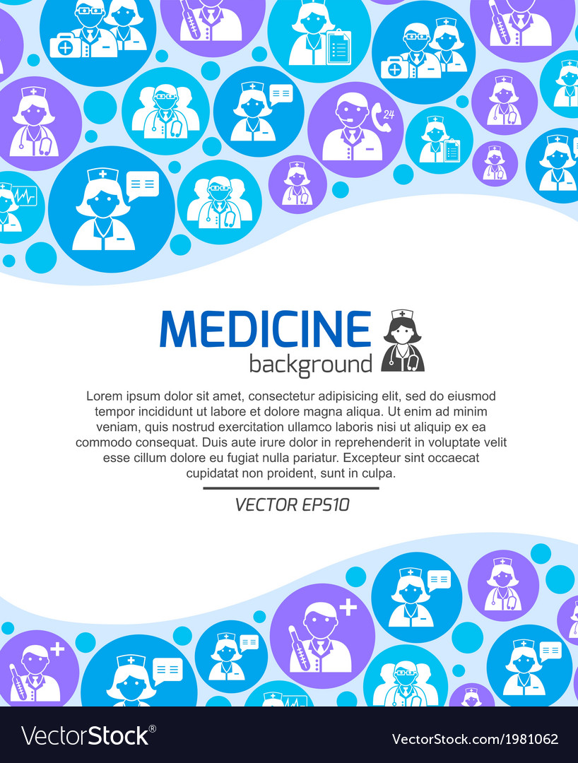 Healthcare and medicine doctors background vector | Price: 1 Credit (USD $1)