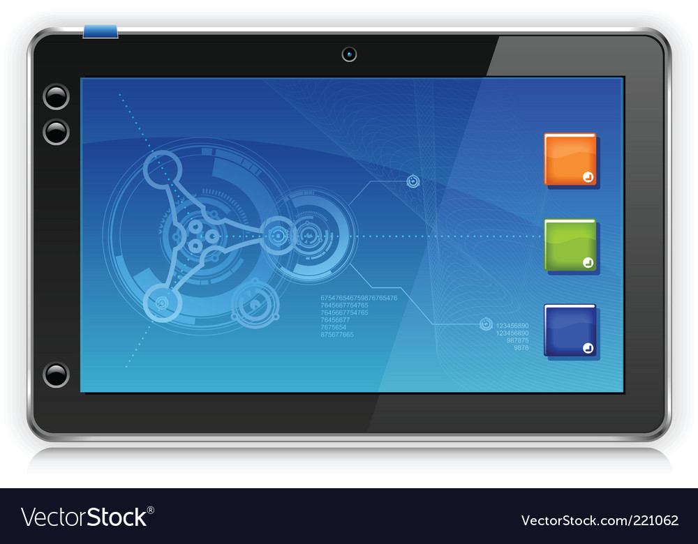 Ipad touchpad tablet computer vector | Price: 3 Credit (USD $3)