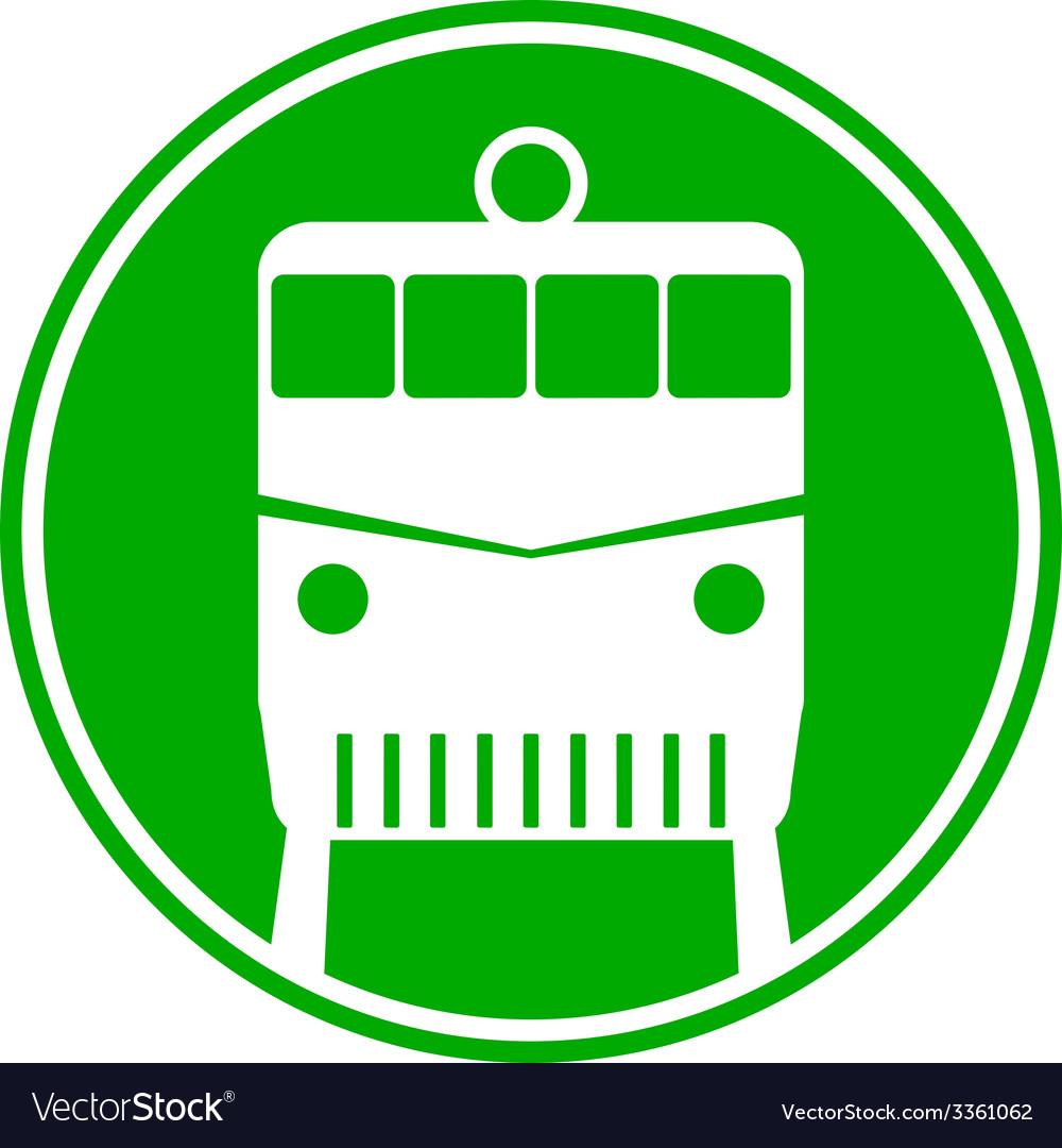 Locomotive button vector | Price: 1 Credit (USD $1)