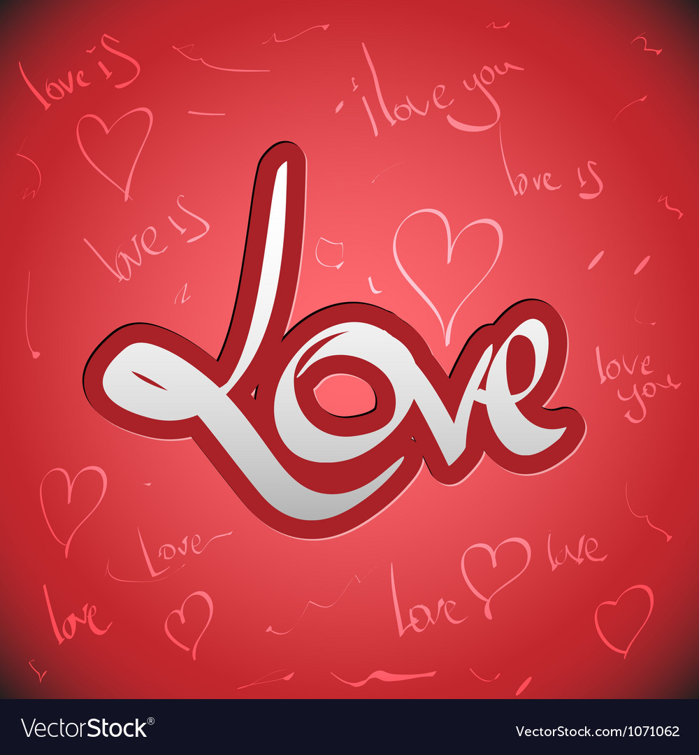 Love greetings hand lettering set vector | Price: 1 Credit (USD $1)
