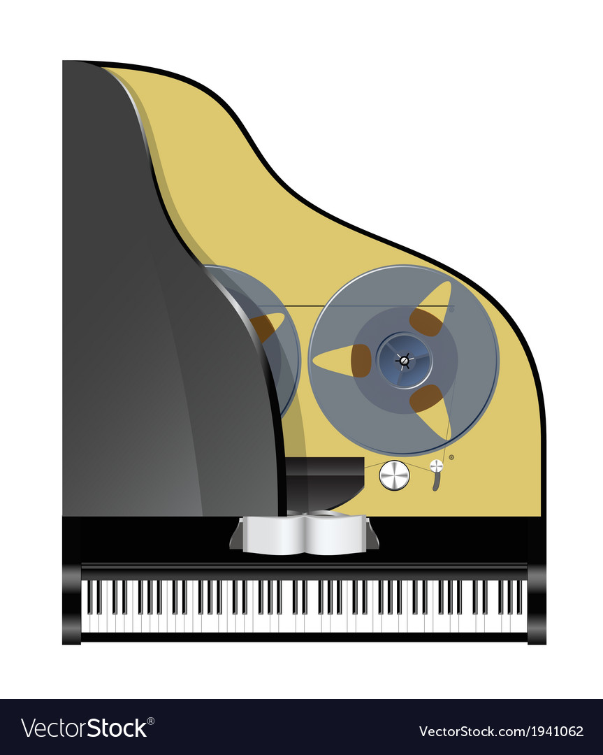 Piano with recorder vector | Price: 1 Credit (USD $1)