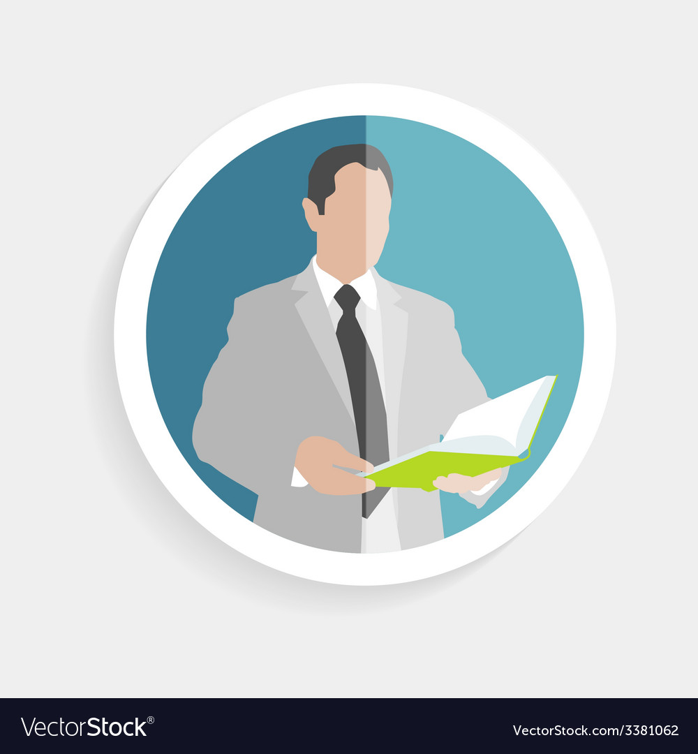 Round icon silhouette successful man vector | Price: 1 Credit (USD $1)