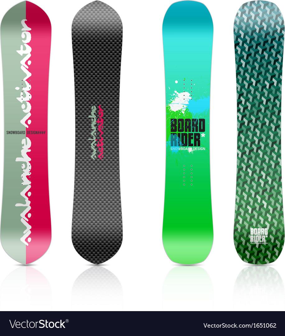 Snowboard design vector | Price: 1 Credit (USD $1)