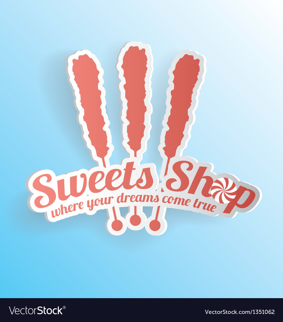 Sweets shop candy label vector | Price: 1 Credit (USD $1)