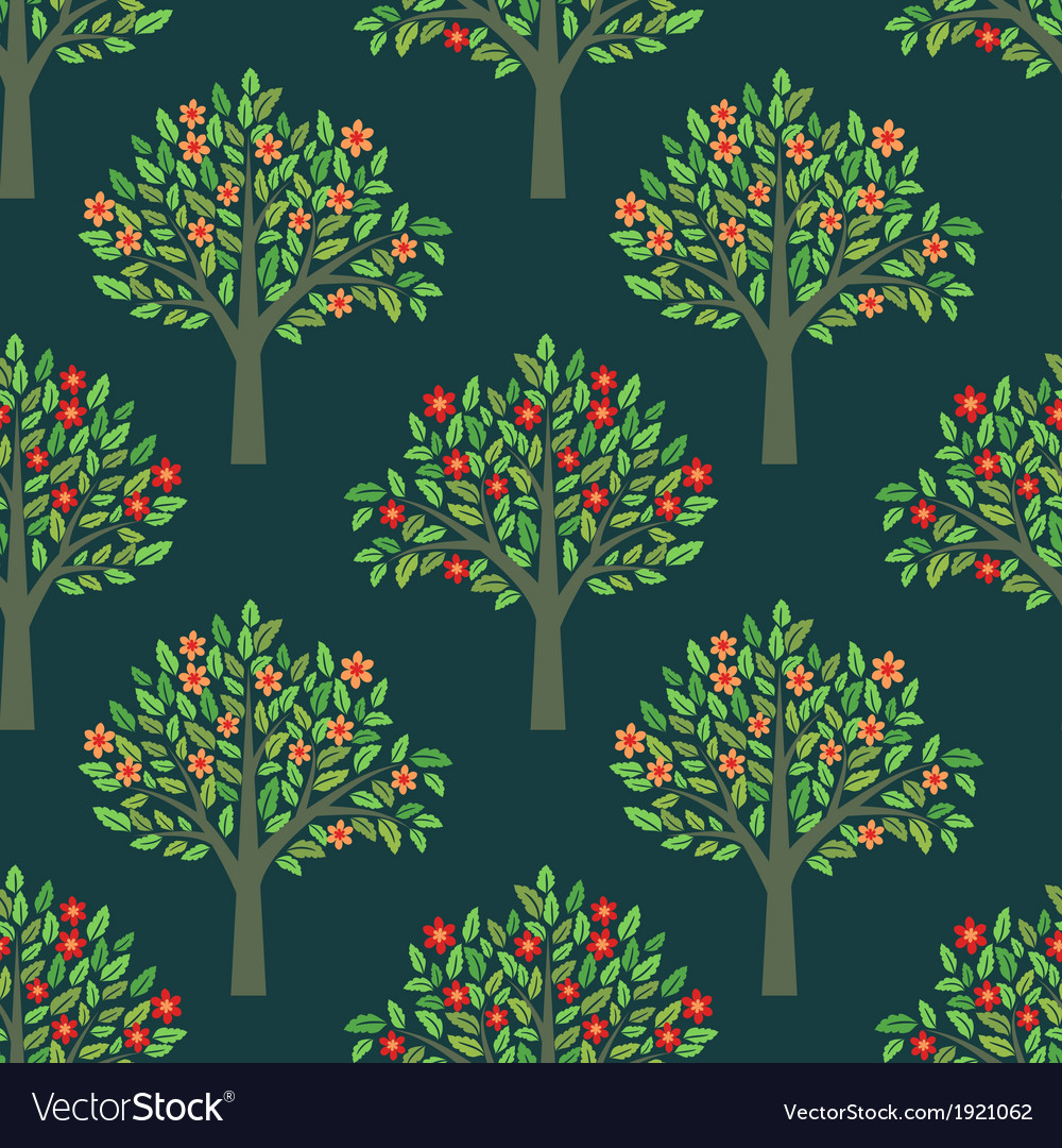 Trees pattern vector | Price: 1 Credit (USD $1)